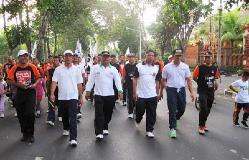 Jalan Sehat Bersama KPUD Provinsi Bali